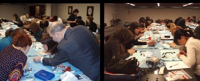 curso Dr. José Luis Padrós de la Clínica Dental Padrós. Este curso de odontología de Formación continua era un postgrado de estética dental con prácticas