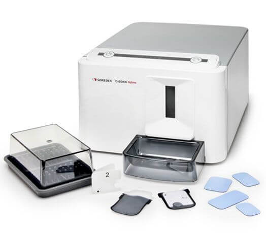 El sistema de radiovisiografía (radiografía digital) Digora nos permite obtener imágenes de alta definición con mínimas dosis de radiación