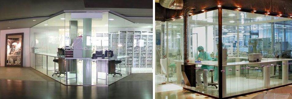 Instalaciones y laboratorios de la empresa Soadco. Realizan la fabricación de los implantes dentales que utilizamos en la clínica dental Padrós en Barcelona